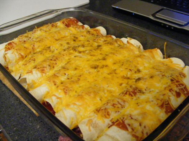 Dad's Favorite Chicken Enchiladas
