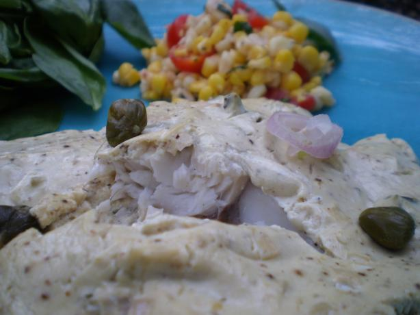 Roasted Fish in a Mustard Sauce - Barefoot Contessa.