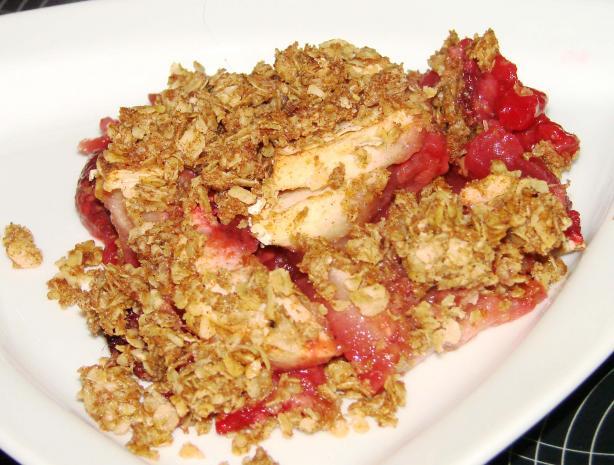 Apple and Raspberry Crisp