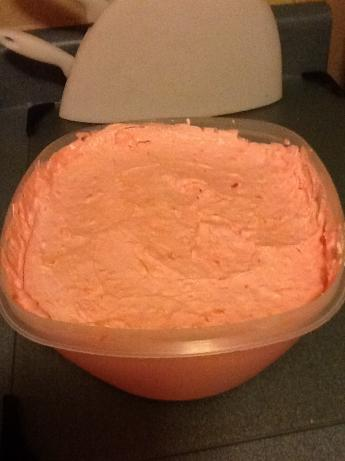 Pink Stuff ( Strawberry Jello, Pineapple Dessert )