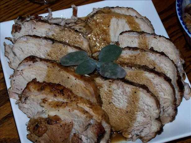Braised Pork Loin With Sage