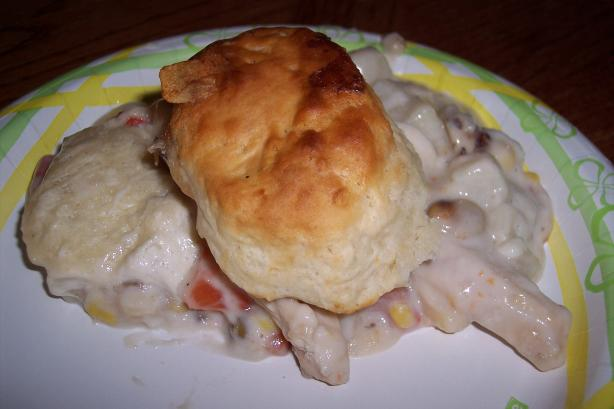 Creamed Chicken 'n Veggies With Biscuit Topping