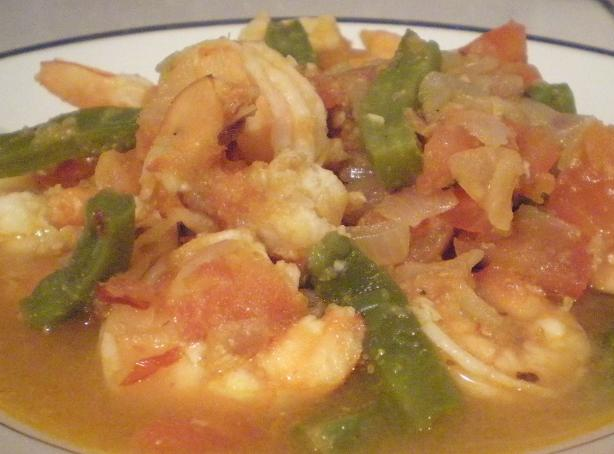 Shrimp in Green Bean Sauce