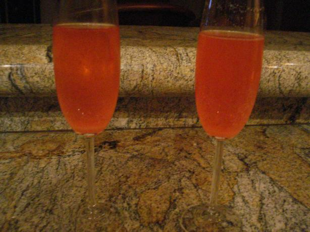 Framboise Champagne Cocktail