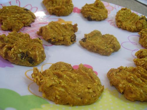 Heart Healthy Pumpkin and Raisin Cookies