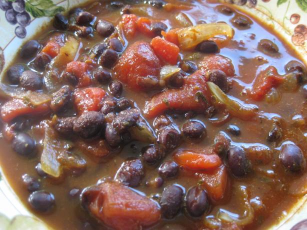 Black Bean and Onion Soup Mexicana Style.