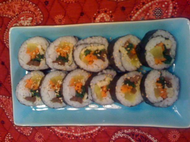 Kim Bap (Korean Rice Rolls)