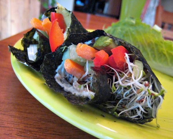 Rice Free Hand Roll Smoked Salmon Sushi