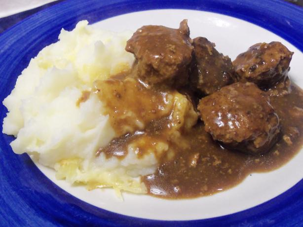 Norwegian Meatballs in Brown Gravy