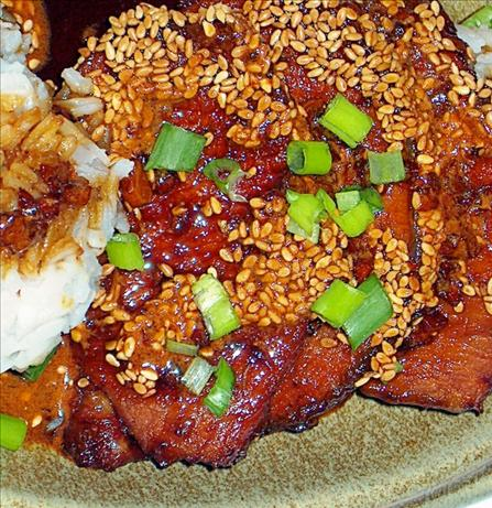 Pork With Soy Sauce and Sesame Glaze