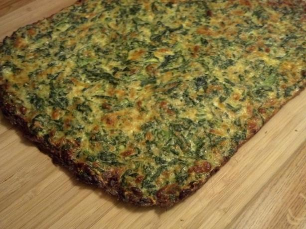 "Low Carb Spinach-Cheese ""bread"""