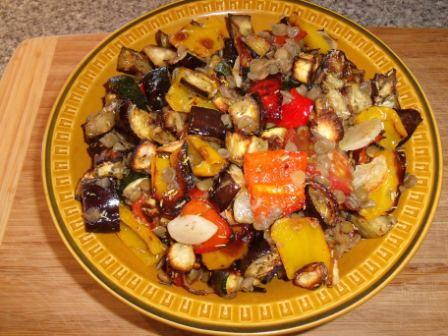 Roasted Ratatouille With Lentils