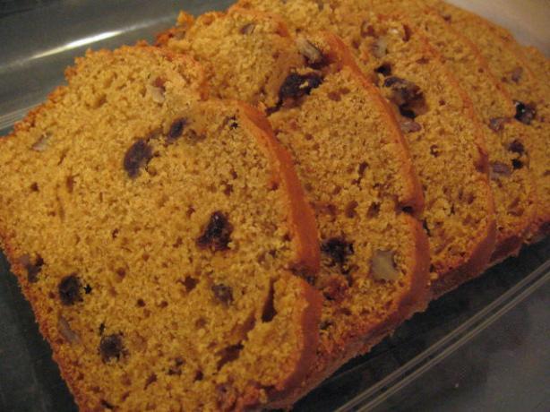 Pumpkin Raisin Walnut Quick Bread
