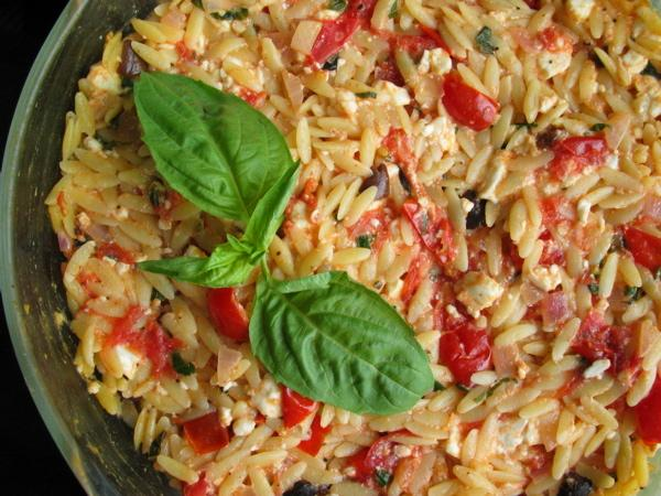 Greek Orzo Bake