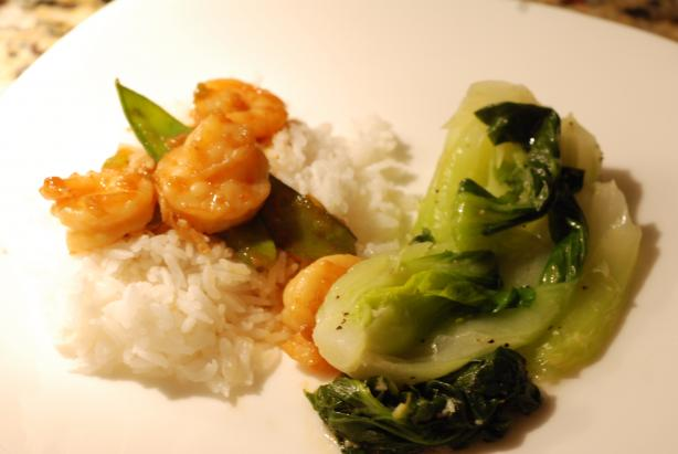 Stir-Fried Ginger Shrimp With Snow Peas