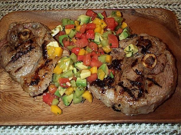 Marinated Lamb Cutlets With Kiwi Salsa