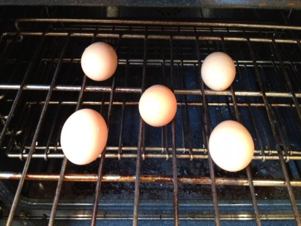 Hard Cooked Eggs in the Oven (Baked Eggs)