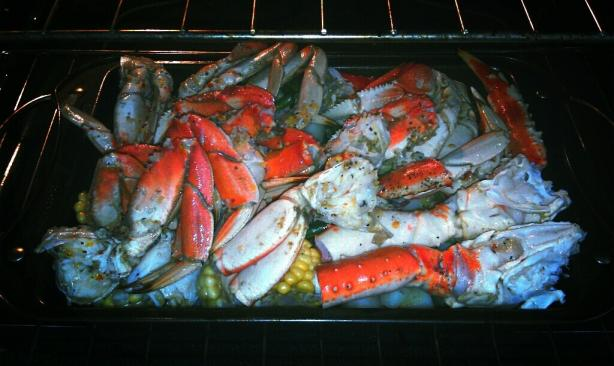 Dungeness Dungeness Crabs With White Wine-Garlic