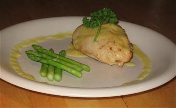 Crab Stuffed Chicken With Hollandaise Sauce