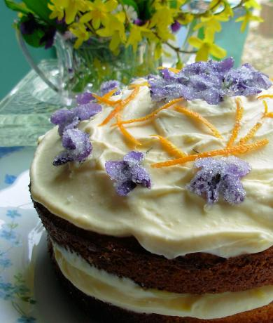 Victorian Spring Posy Cake for Easter or Mother's Day