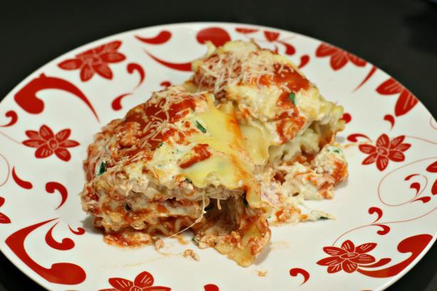 Baked Chicken Lasagna Rolls