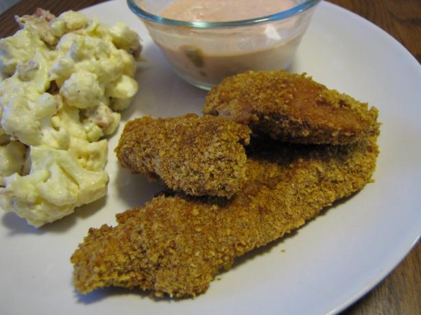 """Super-Crunchy """"fried"""" Chicken"""