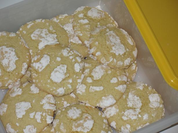 Lemon Luscious Snow Cap Cookies