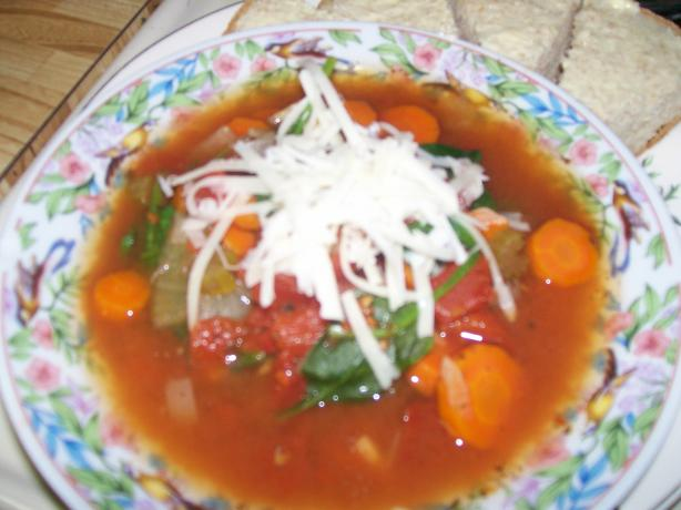 Tomato Spinach Slow Cooker Soup - 0 Points