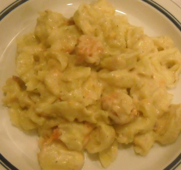 Cheesy Baked Tortellini With Salmon
