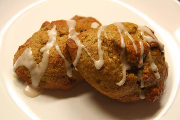 Vegan Persimmon-Banana Cookies With Dark Rum Icing