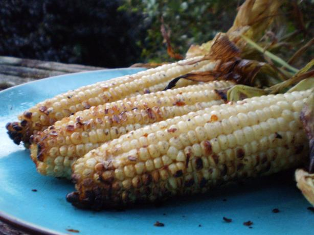 Spicy Garlic Grilled Corn