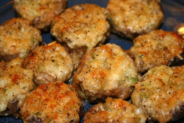 Hot Stuffed Cremini Mushrooms