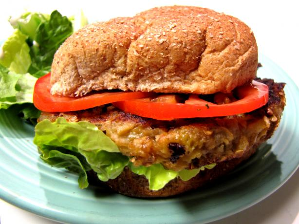 The Farm Cafe's Farmhouse Veggie Burger