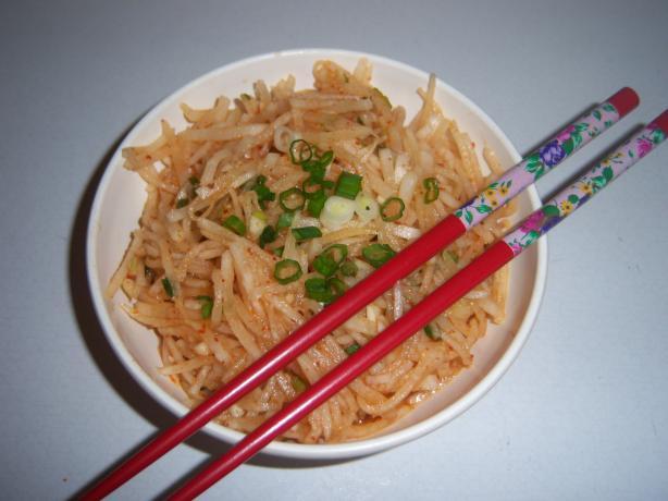Musangchae, Daikon (White Radish) Salad, Like Korean Radish Kimc