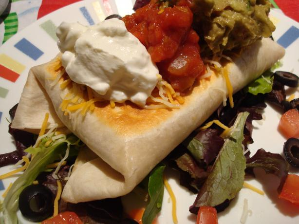 Chicken or Beef Chimichangas (Tex-Mex)