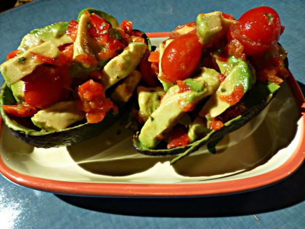 Avocado With Bell Pepper and Tomatoes
