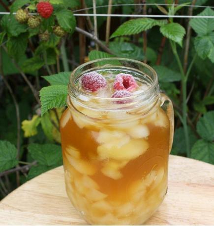 Raspberry Iced-Tea