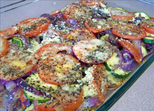 Zucchini, Onion and Tomato Bake
