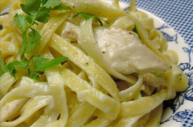 Fettuccini With Chicken Breasts