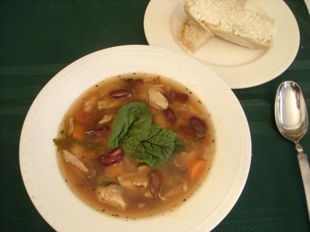 Italian Chicken Soup (With Kidney Beans)