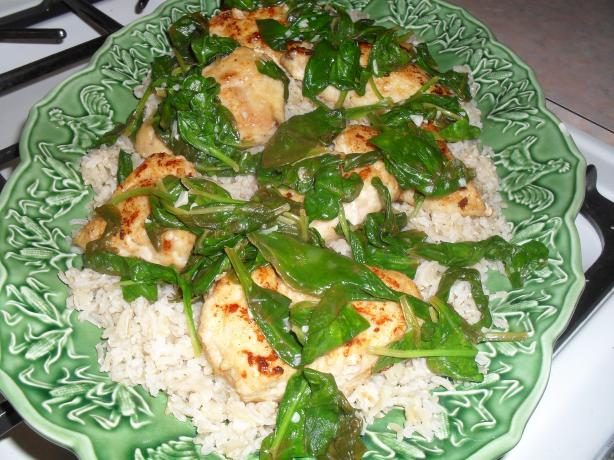 Spinach Lemon Chicken Breast