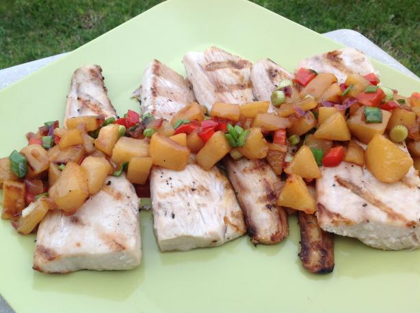 Mahi Mahi With a Pear and Jalapeno Chutney