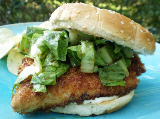 Crispy Fish Sandwiches With Wasabi and Ginger