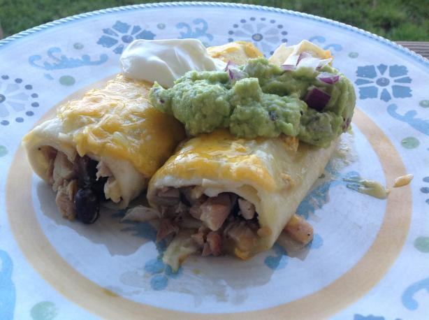 Green Chilie Chicken Enchiladas