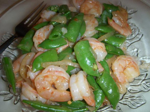 Shrimp and Sugar Snap Peas Stir-Fry