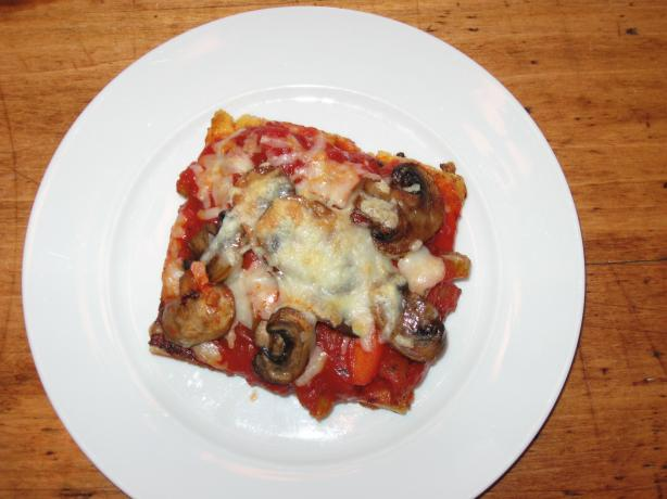 Homemade Polenta Squares With Chunky Tomato Sauce