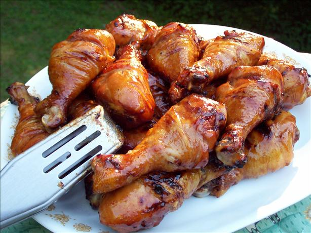 Sweet and Sticky Grilled Drumsticks