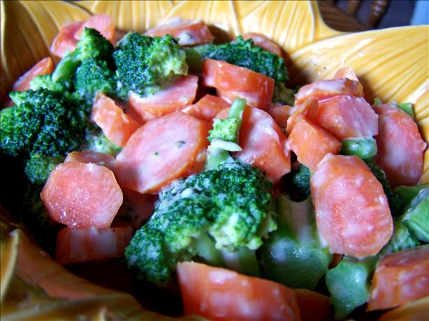 Carrots and Broccoli With Horseradish