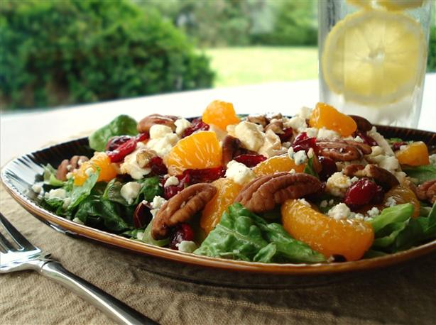 Cranberries and Chicken Salad