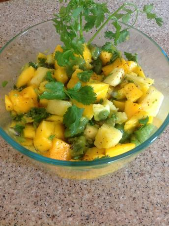 Mango, Pineapple, & Kiwi Salad